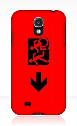 Accessible Means of Egress Icon Exit Sign Wheelchair Wheelie Running Man Symbol by Lee Wilson PWD Disability Emergency Evacuation Samsung Galaxy Case 46