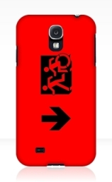 Accessible Means of Egress Icon Exit Sign Wheelchair Wheelie Running Man Symbol by Lee Wilson PWD Disability Emergency Evacuation Samsung Galaxy Case 50