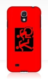 Accessible Means of Egress Icon Exit Sign Wheelchair Wheelie Running Man Symbol by Lee Wilson PWD Disability Emergency Evacuation Samsung Galaxy Case 51