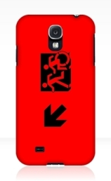 Accessible Means of Egress Icon Exit Sign Wheelchair Wheelie Running Man Symbol by Lee Wilson PWD Disability Emergency Evacuation Samsung Galaxy Case 53