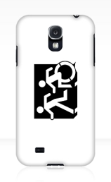 Accessible Means of Egress Icon Exit Sign Wheelchair Wheelie Running Man Symbol by Lee Wilson PWD Disability Emergency Evacuation Samsung Galaxy Case 57