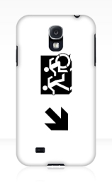 Accessible Means of Egress Icon Exit Sign Wheelchair Wheelie Running Man Symbol by Lee Wilson PWD Disability Emergency Evacuation Samsung Galaxy Case 59