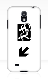 Accessible Means of Egress Icon Exit Sign Wheelchair Wheelie Running Man Symbol by Lee Wilson PWD Disability Emergency Evacuation Samsung Galaxy Case 61