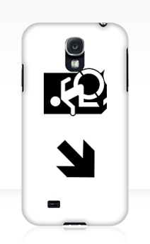 Accessible Means of Egress Icon Exit Sign Wheelchair Wheelie Running Man Symbol by Lee Wilson PWD Disability Emergency Evacuation Samsung Galaxy Case 63