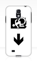 Accessible Means of Egress Icon Exit Sign Wheelchair Wheelie Running Man Symbol by Lee Wilson PWD Disability Emergency Evacuation Samsung Galaxy Case 66