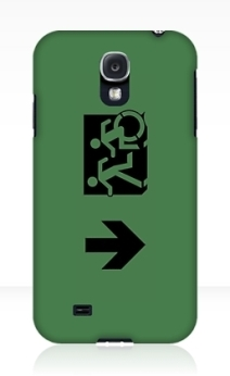 Accessible Means of Egress Icon Exit Sign Wheelchair Wheelie Running Man Symbol by Lee Wilson PWD Disability Emergency Evacuation Samsung Galaxy Case 76