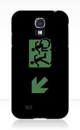 Accessible Means of Egress Icon Exit Sign Wheelchair Wheelie Running Man Symbol by Lee Wilson PWD Disability Emergency Evacuation Samsung Galaxy Case 78