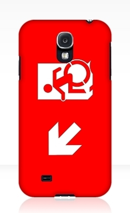 Accessible Means of Egress Icon Exit Sign Wheelchair Wheelie Running Man Symbol by Lee Wilson PWD Disability Emergency Evacuation Samsung Galaxy Case 8