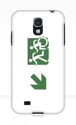 Accessible Means of Egress Icon Exit Sign Wheelchair Wheelie Running Man Symbol by Lee Wilson PWD Disability Emergency Evacuation Samsung Galaxy Case 93