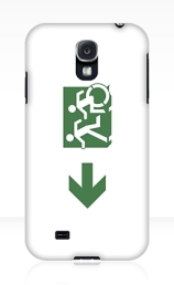 Accessible Means of Egress Icon Exit Sign Wheelchair Wheelie Running Man Symbol by Lee Wilson PWD Disability Emergency Evacuation Samsung Galaxy Case 97