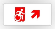 Accessible Means of Egress Icon Exit Sign Wheelchair Wheelie Running Man Symbol by Lee Wilson PWD Disability Emergency Evacuation Sticker 57