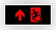 Accessible Means of Egress Icon Exit Sign Wheelchair Wheelie Running Man Symbol by Lee Wilson PWD Disability Emergency Evacuation Sticker 81