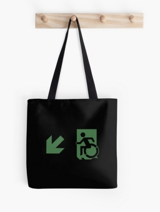 Accessible Means of Egress Icon Tote Bag 144