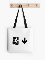 Accessible Means of Egress Icon Tote Bag 154