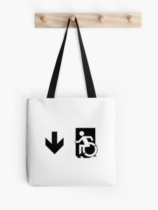 Accessible Means of Egress Icon Tote Bag 160