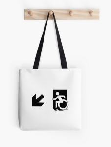 Accessible Means of Egress Icon Tote Bag 164