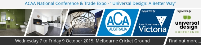 ACAA Conference and Trade Expo Universal Design A Better Way