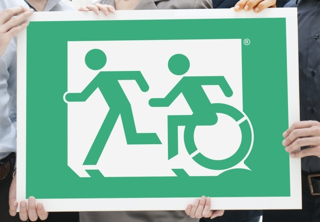 Accessible Exit Sign Project Sign