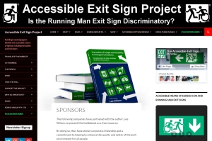 Accessible Exit Sign Project Evacuation Guide Sponsors
