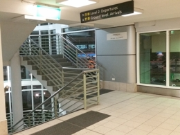 Melbourne Airport Car Park Buildign Stairs